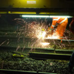 Welding the different rail elements is only one of the numerous functions of the Swietelsky machine