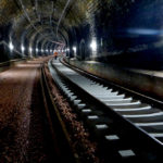 Well-ordered and lined up : the new concrete sleepers inside Cruchten tunnel