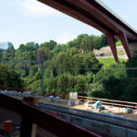 Below the Red Bridge: the new Pfaffenthal-Kirchberg station