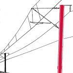 Oberleitungsmast: Hauptbefestigungspunkt der Oberleitungsinfrastruktur