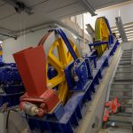 One of the two cable winches necessary to operate the funicular – no problem with a power of 500 kW (680 bhp), per engine!