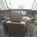 The cockpit of the modern electric railcar
