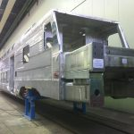 The metal frame of the future KISS electrical railcar