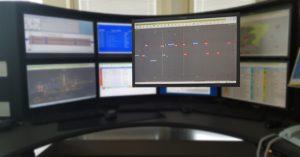 Plan d'occupation des voies : outil de gestion principal d'une station offrant une représentation de l'occupation planifiée des voies d'un arrêt par des trains tout au long de la journée.