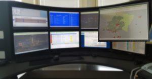 Vue synoptique du réseau : carte géographique du réseau montrant de diverses informations par rapport aux gares, trains et lignes.