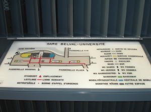 "Tactile overview of the railway station ""Belval-Université"""