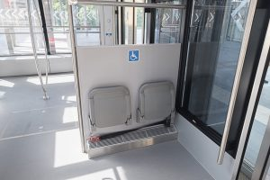 Seat reservations for passengers with mobility impairment - funicular